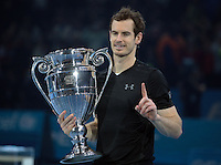 Andy Murray (GBR)(1) with Trophy during Day Eight of the Barclays ATP World Tour Finals 2015 played at The O2 Arena, London on November 20th  2016<br /> <br /> <br /> <br /> <br /> <br /> <br /> <br /> <br /> <br /> <br /> <br /> <br /> <br /> <br /> <br /> <br /> <br /> <br /> <br /> <br /> <br /> <br /> <br /> <br /> <br /> <br /> <br /> <br /> <br /> <br /> <br /> <br /> <br /> <br /> <br /> <br /> <br /> <br /> <br /> <br /> <br /> <br /> <br /> <br /> <br /> <br /> <br /> <br /> <br /> <br /> <br /> <br /> <br /> <br /> <br /> <br /> <br /> <br /> <br /> <br /> <br /> <br /> <br /> <br /> <br /> <br /> <br /> <br /> <br /> <br /> <br /> <br /> <br /> <br /> <br /> <br /> <br /> <br /> <br /> <br /> <br /> <br /> <br /> <br /> <br /> <br /> <br /> <br /> <br /> <br /> <br /> <br /> <br /> <br /> <br /> <br /> <br /> <br /> <br /> <br /> <br /> <br /> <br /> <br /> <br /> <br /> <br /> <br /> <br /> <br /> <br /> <br /> <br /> <br /> <br /> <br /> <br /> <br /> <br /> <br /> <br /> <br /> <br /> <br /> <br /> <br /> <br /> <br /> <br /> <br /> <br /> <br /> <br /> <br /> <br /> <br /> <br /> <br /> <br /> <br /> <br /> <br /> <br /> <br /> <br /> <br /> <br /> <br /> <br /> <br /> <br /> <br /> <br /> <br /> <br /> <br /> <br /> <br /> <br /> <br /> <br /> <br /> <br /> <br /> <br /> <br /> <br /> <br /> <br /> <br /> <br /> <br /> <br /> <br /> <br /> <br /> <br /> <br /> <br /> <br /> <br /> <br /> <br /> <br /> <br /> <br /> <br /> <br /> <br /> <br /> <br /> <br /> <br /> <br /> <br /> <br /> <br /> <br /> <br /> <br /> <br /> <br /> <br /> <br /> <br /> <br /> <br /> <br /> <br /> <br /> <br /> <br /> <br /> <br /> <br /> <br /> <br /> <br /> <br /> <br /> <br /> <br /> <br /> <br /> <br /> <br /> <br /> <br /> <br /> <br /> <br /> <br /> <br /> <br /> <br /> <br /> <br /> <br /> <br /> <br /> <br /> <br /> <br /> Andy Murray  (GBR)(1) and Coach van Lendl  warming prior to the Final during Day Eight of the Barclays ATP World Tour Finals 2015 played at The O2 Arena, London on November 20th  2016