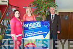 Engage Your Potential: Pictured at the announcement of the Engage Your Potential initative at Listowel Community College were student Shown Houihan, Deidre Kearin, North & East Kerry Development and Sean McCarthy, Principal of Listowel Community college.