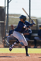 Milwaukee Brewers shortstop Yeison Coca (15) at bat during an Instructional League game against the San Diego Padres on September 27, 2017 at Peoria Sports Complex in Peoria, Arizona. (Zachary Lucy/Four Seam Images)