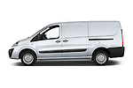 Car Driver side profile view of a 2013 Toyota Proace Comfort 5 Door Cargo Van Side View