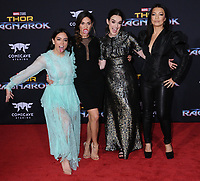 10 October  2017 - Hollywood, California - Chloe Bennett, Natalia Cordova-Buckley, Elizabeth Henstridge, Ming-Na Wen. World Premiere of &quot;Thor: Ragnarok&quot; held at The El Capitan Theater in Hollywood. <br /> CAP/ADM/BT<br /> &copy;BT/ADM/Capital Pictures