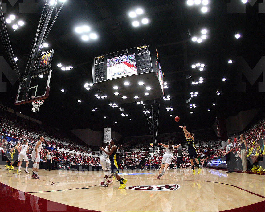 The University of Michigan women's basketball team lost to No. 4 Stanford, 73-40, in the second round of the NCAA Tournament at Maples Pavilion in Palo Alto, Calif., on March 26, 2013.