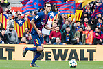 Sergio Busquets Burgos of FC Barcelona in action during the La Liga 2017-18 match between FC Barcelona and Getafe FC at Camp Nou on 11 February 2018 in Barcelona, Spain. Photo by Vicens Gimenez / Power Sport Images
