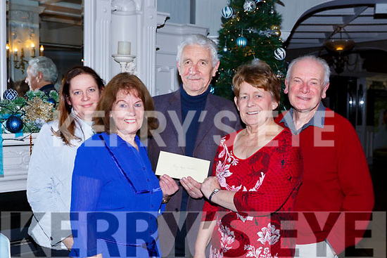 Killarney Dochas gives the proceeds of their play Philip and Rowena to Kerry Hospice in the Killarney avenue hotel on Monday night l-r: Liz Sherry, Mary Murphy, Pat Doolan Kerry Hospice, Patricia McSherry, and Don Rohan