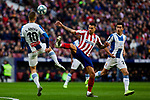 Victor Machin 'Vitolo' of Atletico de Madrid and Sergi Darder of RCD Espanyol during La Liga match between Atletico de Madrid and RCD Espanyol at Wanda Metropolitano Stadium in Madrid, Spain. November 10, 2019. (ALTERPHOTOS/A. Perez Meca)