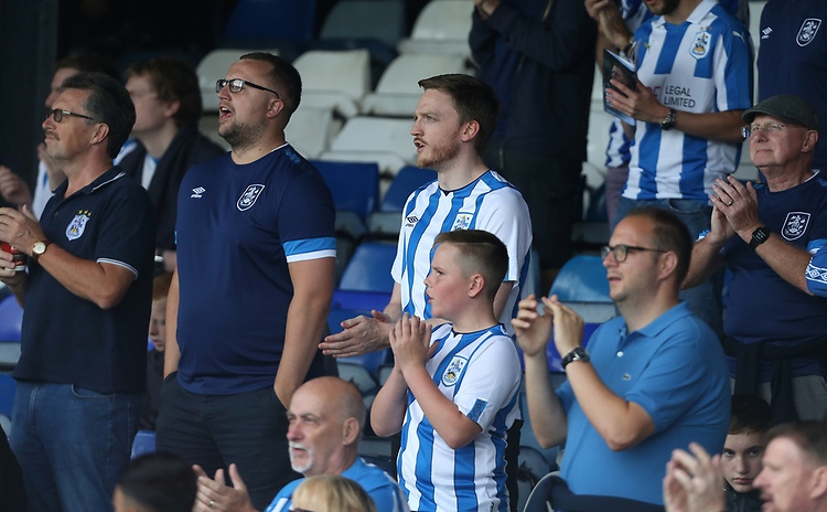 Huddersfield  fans<br /> <br /> <br /> Photographer Rob Newell/CameraSport<br /> <br /> The EFL Sky Bet Championship - Luton Town v Huddersfield Town - Saturday 31 August 2019 - Kenilworth Stadium - Luton<br /> <br /> World Copyright © 2019 CameraSport. All rights reserved. 43 Linden Ave. Countesthorpe. Leicester. England. LE8 5PG - Tel: +44 (0) 116 277 4147 - admin@camerasport.com - www.camerasport.com