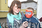 FACE PAINTER: Face Painter Amy Sheehy made Mitchel's youngster Denis O'Brien look like his favourite character Spiderman during the Mitchel's street party on Friday afternoon.   Copyright Kerry's Eye 2008