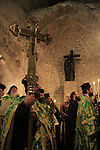 Israel, Jerusalem, Greek Orthodox feast of the Exaltation of the Cross, at Finding of the Cross Chapel, the Church of the Holy Sepulchre