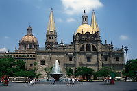 The Guadalajara cthedral and Plaza de la Liberacion, Guadalajara, Jalisco, Mexico