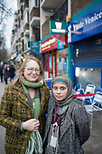 Sheba Begum and Helen Kay, Westbourne Neighbourhood Forum. . Westbourne Parade after shopfront, pavement and street furniture improvement scheme.