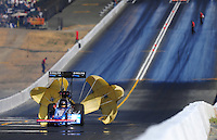 Jul. 26, 2009; Sonoma, CA, USA; NHRA top fuel dragster driver Antron Brown slows to a stop after winning the Fram Autolite Nationals at Infineon Raceway. The win was the third win in a row for Brown. Mandatory Credit: Mark J. Rebilas-