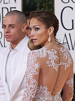 BEVERLY HILLS, CA - JANUARY 13: Casper Smart and Jennifer Lopez at the 70th Annual Golden Globe Awards at the Beverly Hills Hilton Hotel in Beverly Hills, California. January 13, 2013. Credit MediaPunch Inc. /NortePhoto