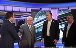 Palestinian president Mahmoud Abbas visits the Palestine TV, in the West Bank city of Ramallah, on March 20 2019. Photo by Thaer Ganaim