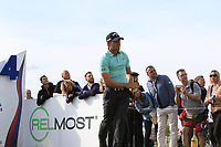 Haydn Porteous (RSA) on the 14th tee during Round 4 of the D+D Real Czech Masters at the Albatross Golf Resort, Prague, Czech Rep. 03/09/2017<br /> Picture: Golffile   Thos Caffrey<br /> <br /> <br /> All photo usage must carry mandatory copyright credit     (&copy; Golffile   Thos Caffrey)