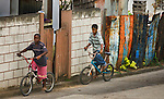 Children in the town of Cayon, Saint Kitts and Nevis