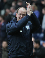 Preston North End's Manager Simon Grayson applauds the fans as the game ends<br /> <br /> Photographer Mick Walker/CameraSport<br /> <br /> The EFL Sky Bet Championship - Preston North End v Reading - Saturday 11th March 2017 - Deepdale - Preston<br /> <br /> World Copyright &copy; 2017 CameraSport. All rights reserved. 43 Linden Ave. Countesthorpe. Leicester. England. LE8 5PG - Tel: +44 (0) 116 277 4147 - admin@camerasport.com - www.camerasport.com