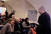Roma, 23 Gennaio 2015<br /> Alexis Tsipras, la mia Sinistra.<br /> Presentazione del libro alla stampa estera.<br /> Nella foto Valentino Parlato e Stefano Rdot&agrave;