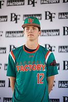 Ryan Pettys (12) of Arnold High School in Panama City Beach, Florida during the Baseball Factory All-America Pre-Season Tournament, powered by Under Armour, on January 12, 2018 at Sloan Park Complex in Mesa, Arizona.  (Zachary Lucy/Four Seam Images)