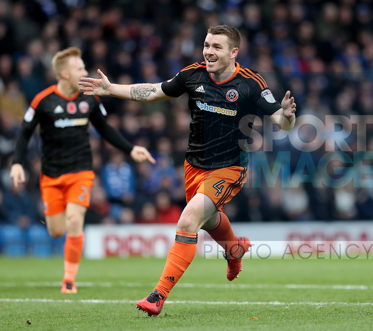 John Fleck of Sheffield United celebrating his teams second goal of the game during the English Football League One match at Proact Stadium, Chesterfield. Picture date: November 13th, 2016. Pic Jamie Tyerman/Sportimage
