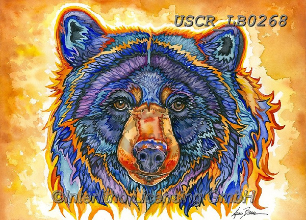 ,REALISTIC ANIMALS, REALISTISCHE TIERE, ANIMALES REALISTICOS, paintings+++++,USCRLB0268,#a#, EVERYDAY,grizzly,brown bear ,innovative