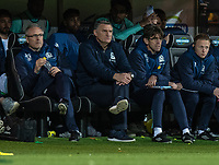 Blackburn Rovers assistant manager Mark Venus (left),manager Tony Mowbray (centre) and  First Team Coach David Lowe<br /> <br /> Photographer David Horton/CameraSport<br /> <br /> The EFL Sky Bet Championship - Norwich City v Blackburn Rovers - Saturday 27th April 2019 - Carrow Road - Norwich<br /> <br /> World Copyright © 2019 CameraSport. All rights reserved. 43 Linden Ave. Countesthorpe. Leicester. England. LE8 5PG - Tel: +44 (0) 116 277 4147 - admin@camerasport.com - www.camerasport.com