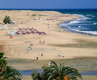 Spanien, Kanarische Inseln, Gran Canaria, Playa de Maspalomas, Strand | Spain, Canary Island, Gran Canaria, Playa de Maspalomas, beach