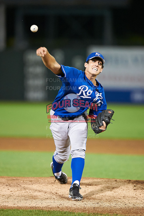 Geoffrey Bramblett #62 of Locust Fork High School in Locust Fork, Alabama playing for the Kansas City Royals scout team during the East Coast Pro Showcase at Alliance Bank Stadium on August 1, 2012 in Syracuse, New York.  (Mike Janes/Four Seam Images)