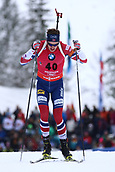 8th December 2017, Biathlon Centre, Hochfilzen, Austria; IBU Biathlon World Cup; Tarjei Boe (NOR)