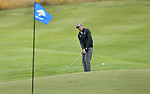 VALENTINE, NE - OCTOBER 2: Caleb Proveaux from South Carolina chips on the 18th hole during the SDSU Invite Monday at The Prairie Club in Valentine, NE. (Photo by Dave Eggen/Inertia)