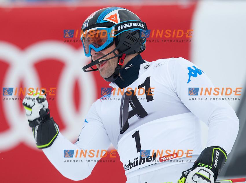 Cristian Deville Italia, primo classificato.22.01.2012, Kitzbuehel, AUSTRIA .FIS Coppa del Mondo Sci Alpino Slalom Speciale.Foto Insidefoto / EXPA/ Johann Groder