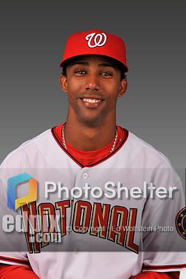 14 March 2008: ..Portrait of Alberto Tavarez, Washington Nationals Minor League player at Spring Training Camp 2008..Mandatory Photo Credit: Ed Wolfstein Photo