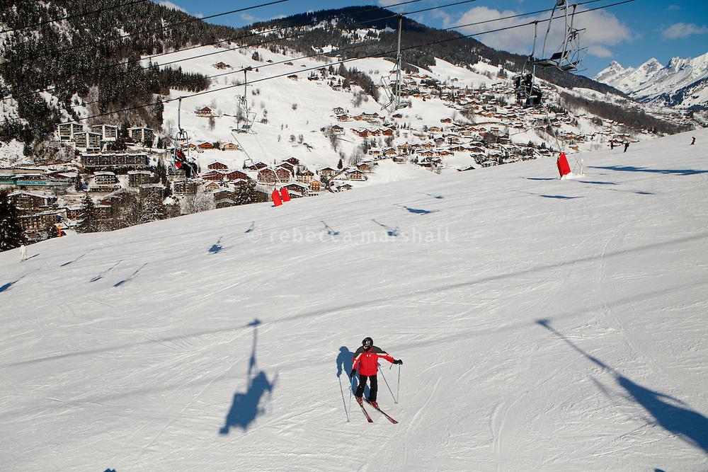 Ski slope above La Clusaz, France, 14 February 2012.