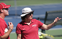 STANFORD, CA - April 1, 2011:  Head Coach Lele Farood with Associate Head Coach Frankie Brennan during Stanford's 6-1 victory over Arizona State at Stanford, California on April 1, 2011.