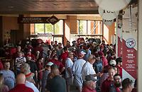 NWA Democrat-Gazette/BEN GOFF @NWABENGOFF<br /> Arkansas fans Saturday, June 9, 2018, during game one of the NCAA Super Regional at Baum Stadium in Fayetteville.