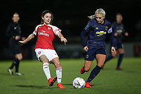 Danielle van de Donk of Arsenal and Alex Greenwood of Manchester Utd during Arsenal Women vs Manchester United Women, FA WSL Continental Tyres Cup Football at Meadow Park on 7th February 2019