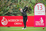Ji Hyun Oh of South Korea tees off at the 13th hole during Round 2 of the World Ladies Championship 2016 on 11 March 2016 at Mission Hills Olazabal Golf Course in Dongguan, China. Photo by Victor Fraile / Power Sport Images