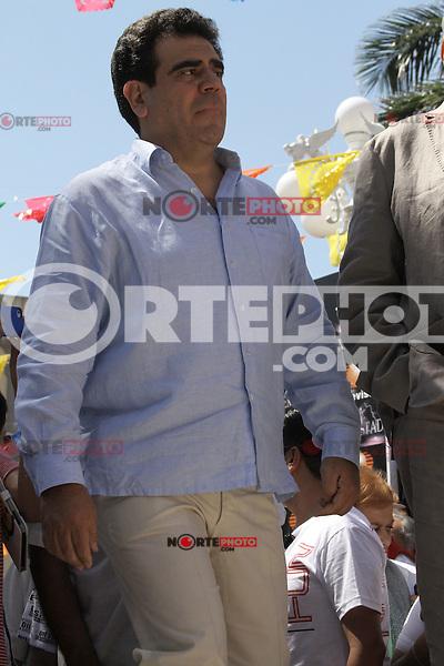 Claquetazo inicial de la telenovela La Tempestad en el centro de Alvarado, Veracruz,<br />  06/03/2013.<br /> (K.Carballo/NortePhoto©)