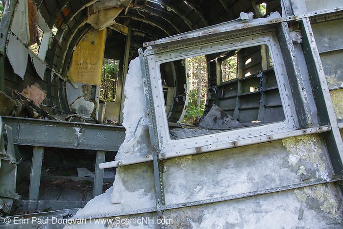 Crash site of Northeast Airlines Flight 792 on Mount Success, near  the Appalachian Trail, in the New Hampshire White Mountains. This plane was a Douglas DC-3 that crashed on November 30, 1954. Seven people on-board survived the initial crash, but two later died from injuries while waiting to be rescued.
