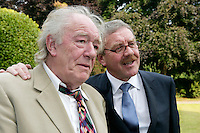 22/6/10 Michael Gambon Michael Colgan as he recieves his OBE at the British Amabassador's residence at Glencairn House in Sandyford, Dublin. Arthur Carron/Collins