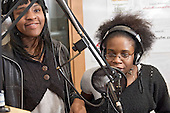 Natalie Jackson and Dernel Gabriel at the Avenues Youth Project radio studio