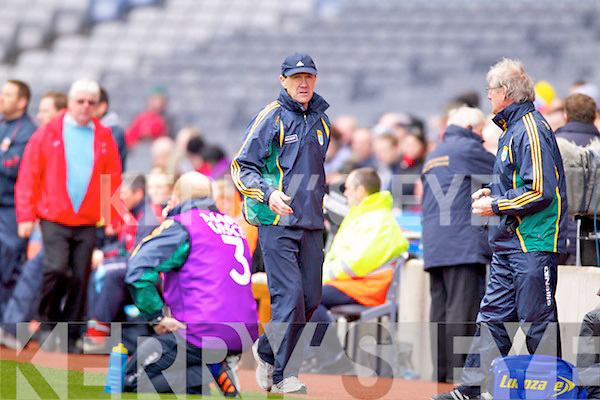 Kerry Manager Jack O'Connor in their match against   Mayo in the National Football League Semi Final at Croke Park on Sunday.