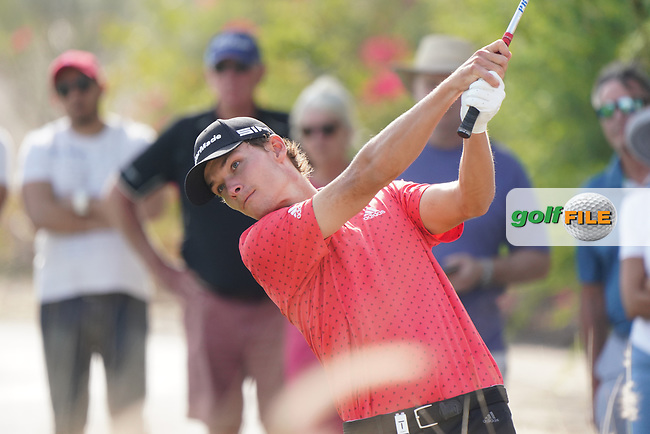 Nicolai Højgaard (DEN) during the third round of the Commercial Bank Qatar Masters 2020, Education City Golf Club , Doha, Qatar. 07/03/2020<br /> Picture: Golffile   Phil Inglis<br /> <br /> <br /> All photo usage must carry mandatory copyright credit (© Golffile   Phil Inglis)