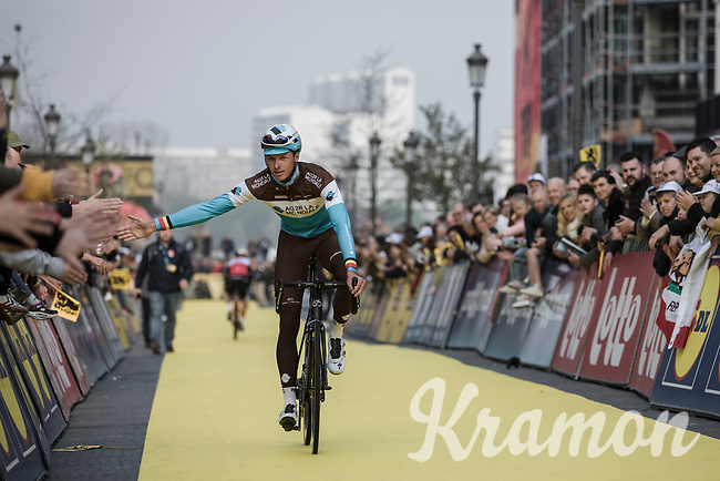 Oliver Naesen (BEL/AG2R La Mondiale) on his way to the pre race team presentation<br /> <br /> 103rd Ronde van Vlaanderen 2019<br /> One day race from Antwerp to Oudenaarde (BEL/270km)<br /> <br /> ©kramon