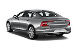 Car pictures of rear three quarter view of a 2019 Volvo S90 Inscription PHEV T8 AWD 4 Door Sedan angular rear