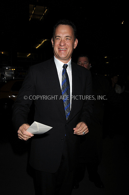 WWW.ACEPIXS.COM . . . . . ....March 3 2008, New York City....Actor Tom Hanks arriving at the premiere of HBO's 'John Adams'  at The Museum of Modern Art in midtown Manhattan....Please byline: KRISTIN CALLAHAN - ACEPIXS.COM.. . . . . . ..Ace Pictures, Inc:  ..(646) 769 0430..e-mail: info@acepixs.com..web: http://www.acepixs.com