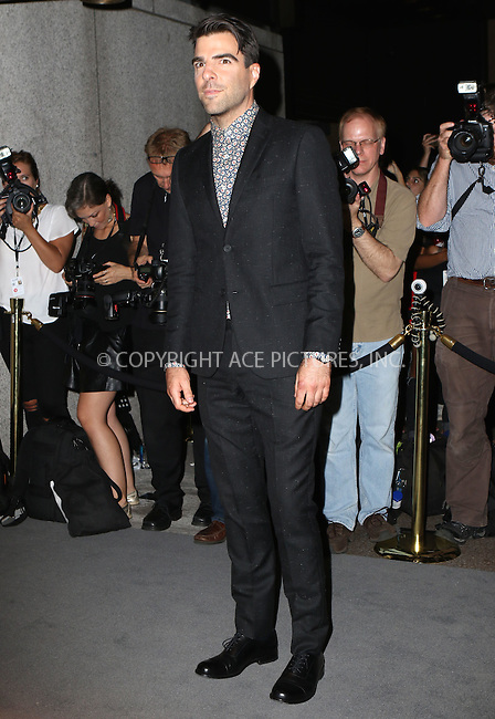www.acepixs.com<br /> <br /> September 7 2016, New York City<br /> <br /> Zachary Quinto attending the Tom Ford fashion show during New York Fashion Week on September 7, 2016 in New York City.<br /> <br /> By Line: Nancy Rivera/ACE Pictures<br /> <br /> <br /> ACE Pictures Inc<br /> Tel: 6467670430<br /> Email: info@acepixs.com<br /> www.acepixs.com