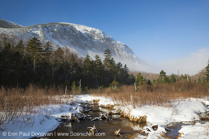 Franconia Notch State Park - Cannon Mountain from along the Pemi Trail in the White Mountains, New Hampshire USA.