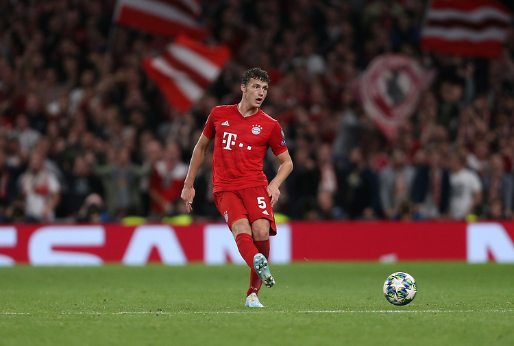Bayern Munich's Benjamin Pavard<br /> <br /> Photographer Rob Newell/CameraSport<br /> <br /> UEFA Champions League Group B  - Tottenham Hotspur v Bayern Munich - Tuesday 1st October 2019 - White Hart Lane - London<br />  <br /> World Copyright © 2018 CameraSport. All rights reserved. 43 Linden Ave. Countesthorpe. Leicester. England. LE8 5PG - Tel: +44 (0) 116 277 4147 - admin@camerasport.com - www.camerasport.com