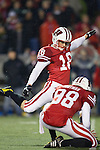 Wisconsin Badgers kicker Philip Welch (18) kicks the ball during an NCAA Big Ten Conference college football game against the Penn State Nittany Lions on November 26, 2011 in Madison, Wisconsin. The Badgers won 45-7. (Photo by David Stluka)