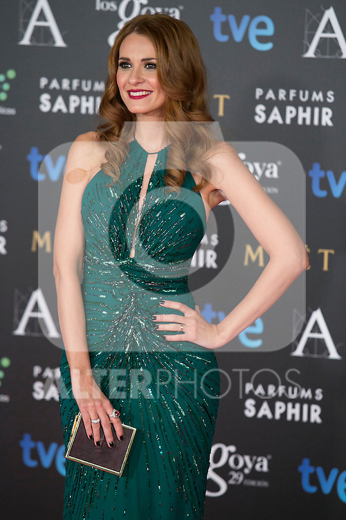 Elena Ballesteros attend the 2015 Goya Awards at Auditorium Hotel, Madrid,  Spain. February 07, 2015.(ALTERPHOTOS/)Carlos Dafonte)